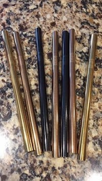 Stainless steel straws (gold only) NEW (smoothie size) Pitt Meadows, V3Y 2R3