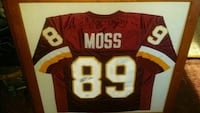 Santana Moss Autographed and Framed Skins Jersey Falling Waters, 25419