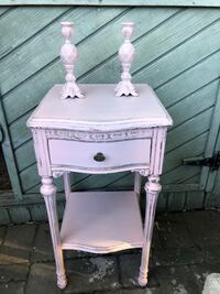 Antique night table (pale pink) West Islip, 11795