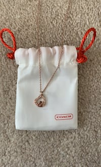 PRICE DROP - Authentic COACH Rose Gold Heart Pendant Mississauga, L5B
