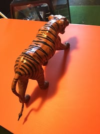 Hand made tiger made with strips of leather.  Surrey, V3R