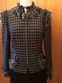 Black and silver tweed elegant jacket Chanel style  Montréal, H8R 2P7