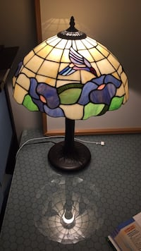Black and green floral print table lamp Glen Burnie, 21060
