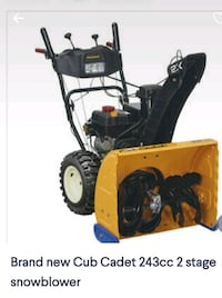 Almost brand new cub Cadet snowblower.. used maybe 10 hrs ,manels incl Airdrie, T4B 1Y4