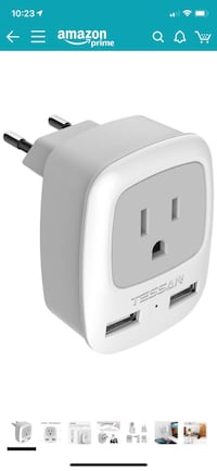 European Plug Adapter Arlington, 22201