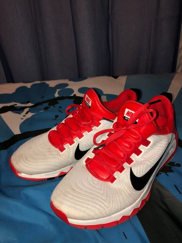 15b3c5022295 Used White and Red Nike Free Trainer 5.0 V5 for sale in Richardson ...