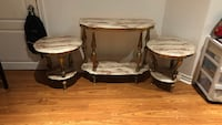 two brown wooden side tables Brampton, L6X
