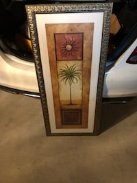 Framed painting - tropical theme wall decor  Pembroke Pines, 33029
