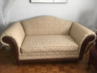 Set of leaving room large size and love seat as seen in the picture beige colour with beautiful texture fabric brand new good seat foam and excellent condition wood frame remember it's one owner furniture clean and brand new no pat no tax just clean  Richmond Hill, L4B