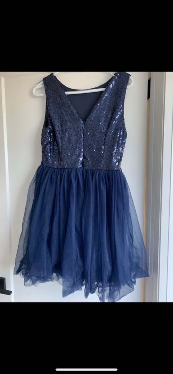 XS Navy Blue (Sequin & Tulle) Prom Dress--BNWT - $50 e7603329-2f87-4fde-a04f-987a35effb6e
