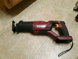 Chicago electric cordless reciprocating saw and swivel head flashlight