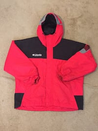Vintage 90's Retro Columbia Sportswear Company Sport Red Ski Winter Insulated Parka Jacket Size Extra Large Laurel, 20708