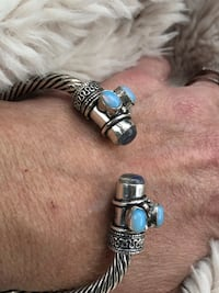 Turquoise & Silver Cable Bangle NEW Gainesville, 20155