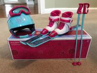American Girl Doll Ski Set 193 mi