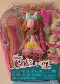 """New Girls toy Lalaloopsy crazy hair doll """"Scoops waffle cone"""" Cherry Hill, 08002"""