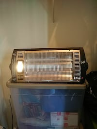 Black electric heater with light