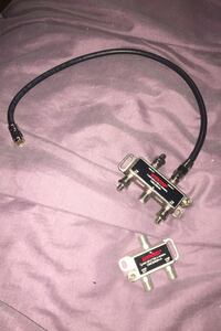 A 4 way an a 2 way splitter both an a short piece of coax cable Norwood, 45212