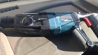 blue and black Bosch corded power tool