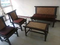 Compact bamboo wood sofa with table. Gurugram, 122003