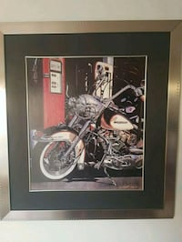 Harley Davidson motorcycle, chrome framed picture  Calgary, T2A 0L9