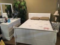 White 4 Pc queen bedroom set $599 Norwalk, 90650