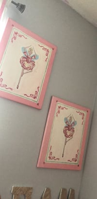 two pink and white floral photo frames Sarasota, 34243