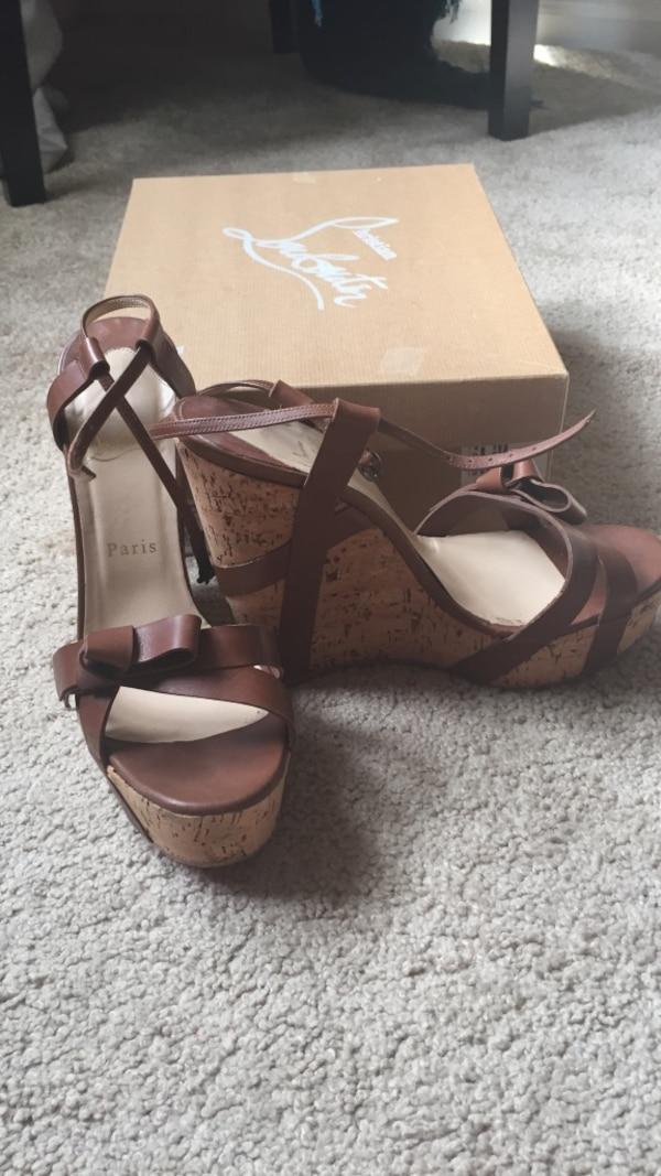 best sneakers 517eb 43a49 Christian Louboutin Miss Cristo Wedge heel