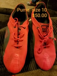 pair of red-and-black Nike running shoes Cabot, 72023