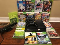Xbox 360 console with controller and game cases Mississauga, L5M 7A7