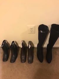 3 pairs of ladies boots size 61/2 black and brown ankle boots by Kenneth Cole long used by Calvin Klein Click on my profile picture on this page to check out my other listings message me if you interested pick up in Gaithersburg Md 20877all sales final Gaithersburg, 20877