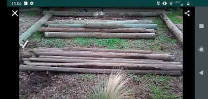 """Treated Fence Posts...15 Posts at 2 1/2""""×8'   10 Posts at 6""""×8'"""