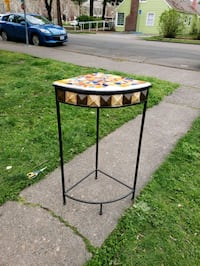 Mosaic plant stand side accent table