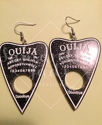 Quija Board Planchette Earrings Toronto, M9R