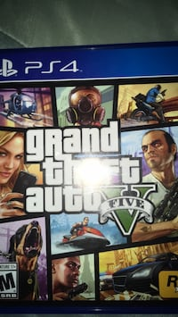 Grand Theft Auto Five PS4 game case Santa Ana, 92705