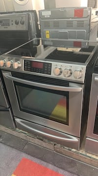 LG stove glass top SS Slide-in