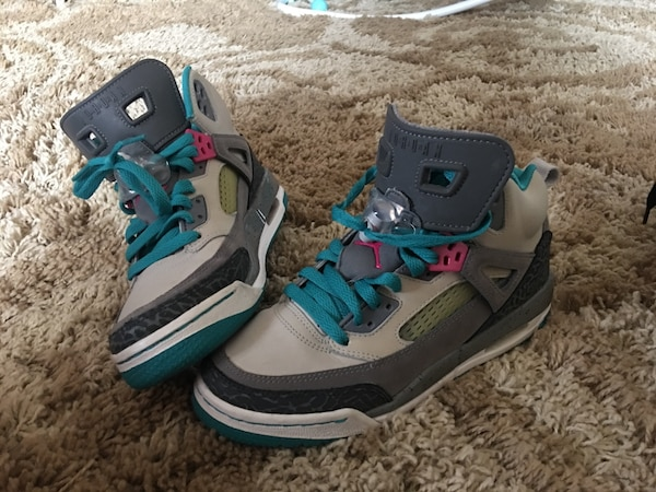 e7ed7df974c8a5 Used gray and green air jordan spezikes size 5.5 new worn twice negotiable  for sale in Yonkers - letgo