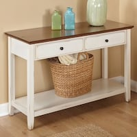 white wooden single drawer side table