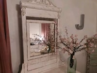 white wooden framed wall mirror Greenwood, 29649