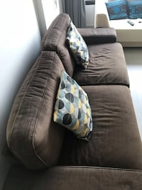 Brown suede 2-seat sofa Singapore