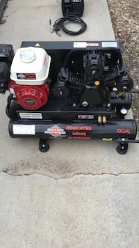 Compressor, gas powered