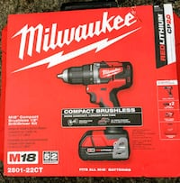 "Milwaukee M18 Compact Brushless 1/2"" Drill Driver  Laurel, 20708"