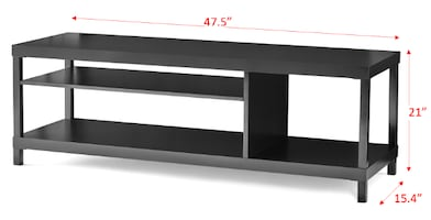 """TV STAND UP TO 42"""" BLACK"""