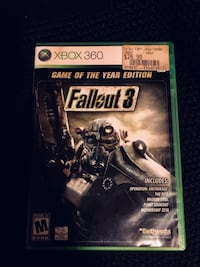 XBOX 360 Preowned Fallout 3 game. Disk is in excellent used condition & still works great! We just no longer have our Xbox 360. Wichita, 67207
