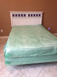 Full size white  and purple bed  Plano, 75025