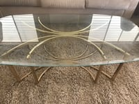 Glass and gold coffee table Menifee, 92586