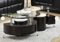 **SEALED BOX**Beautiful Espresso Coffee Table with storage compartments
