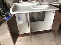 43 inch Vanity with faucet sink &  water connection hoses Toronto, M9L 1L1