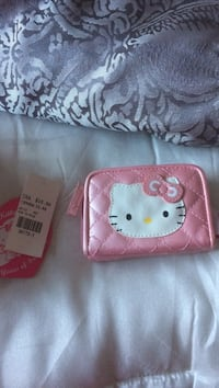 Quilted white and pink hello kitty brand new wallet