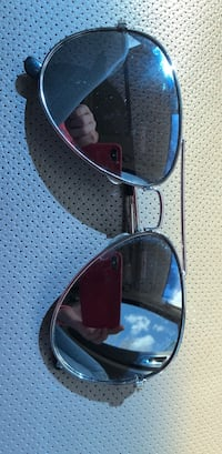 Black and blue framed sunglasses