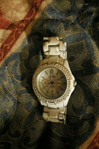 round silver-colored chronograph watch with link bracelet Calgary, T3B 0M7